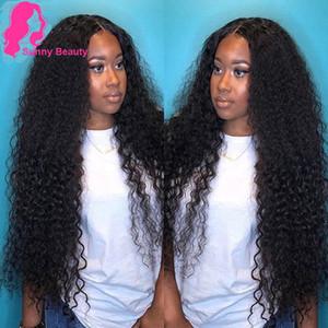 Sunny Beauty Péruvien Deep Wave 3/4 Bundles Pervian Hair Weave Bundles Poils Peruvian Poiseries Bundles bouclés en vrac Vague profonde couleur noire