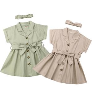 Tout-petit Fille Party Casual Robe bébé enfants Bow Tie ceinture robe layette Princesse Robes d'été