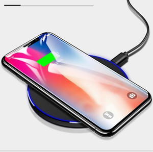 Fast Wireless Charger Ultra-thin QC 3.0 10W qucik wireless Charging for Samsung S9 S8 Note 8 9 S7 6 USB Charger Pad white black 50pcs