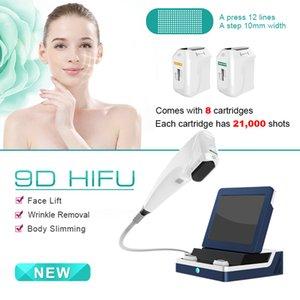 3D HIFU 판매 8 카트리지 3D 처리를위한 얼굴 리프팅 주름 리무버 안티 링클 초음파 장치와의 얼굴 기계