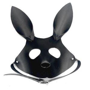 Slave Rabbit Mask Party Games Adultos Máscara BDSM Preciosos de cuero encantadores Cosplay Eye Carnival para Masquerade Ball Abra Bondage Sex Toy WSSB