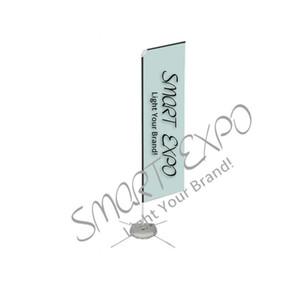 Alüminyum Borular Çift Polyester Baskı grubu 4.8m Alüminyum Boru Plaj Tüy Bayrak Açık Reklam Banner Display