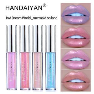 HANDAIYAN 액체 립글로스 반짝이 립스틱 색조 섹시한 립스틱 안료 쉬머 립글로스 반짝 립 스틱 메이크업 화장품 12PCS