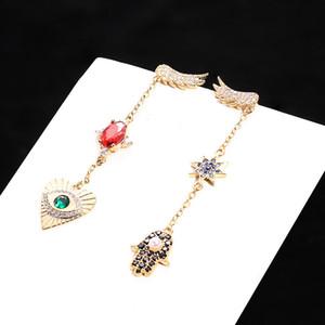 Luxus Frauen Ohrringe mit Kristall Designer Eye Hand Form Ohrringe Vintage Style Ohrringe für Damen Schmuck Geschenk