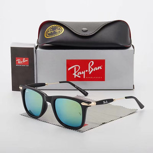 New Justins Sonnenbrille Männer Frauen Marken-Designer-UV400 Driving Lunette Occhiali Gardient Sun-Gläser mit Kasten Fällen Objektiv