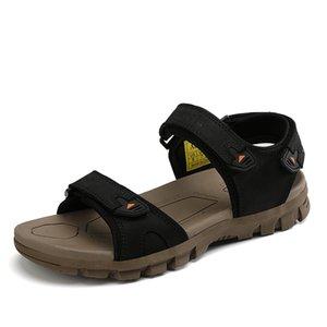 Безопасность романского де Ьотта sandalsslippers transpirables сандалия Herren sandalet ERKEK Sandalia для мужской кожи человека больших Романасов мужчин