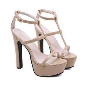 Hot Sale- 2020 Women Summer Sandles 14.5cm High Heels Extreme Fetish Sandals 5cm Platform Stripper Block Heels Prom Gladiator Party Shoes