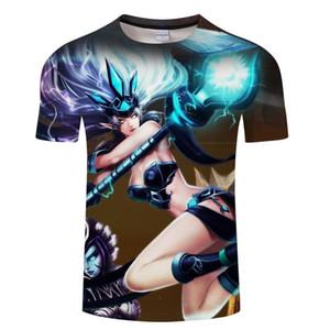 Liga der fasion lässiges T-Shirt LOL Spiel Frauen-T-Shirts Männer Legenden 3D-Druck-T-Shirt Hip-Hop-lustige asiatische Größe 6xl Kleidung der Männer