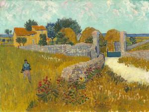 Vincent van Gogh-Ölgemälde auf Leinwand-Wand-Dekor-Bauernhof in der Provence Wohnkultur Handbemalte HD-Druck-Wand-Kunst Leinwandbildern 191029