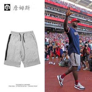 2019 All'ingrosso Tech Fleece Sport Shorts Tasca con cerniera Pantaloni sportivi Pantaloni casual Grigio Nero S-XL Pantaloncini corti da uomo all'ingrosso