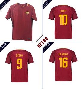 Jersey Roma Retro Soccer 2017-2018 Totti Batistuta Candela Chemise Montella 17 18 Chemise de football Vintage de Rome