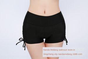 Meilang bikini ladies base anti-light flat angle sports yoga Beach pants Bikini shorts shorts safety beach pants drawstring