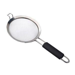 Braten Küchensieb Dumpling Fine Mesh Non Slip Griff Geschirr Werkzeuge Durable Hot Pot-Sieb-Filter Edelstahl-Flour Öl