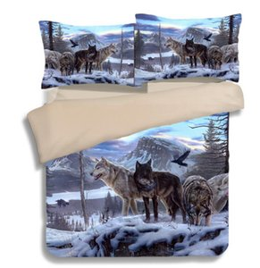 HD Wolf Bedding Set 3D Animal Beddings Juego de funda nórdica Bedlinen Twin Full Queen King Size