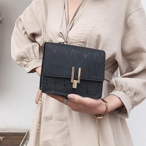 One Chain Shoulder BaoXiaoFang Package Handbag Shoulder Bag Inclined Plaid Splicing Joker Crack One Ms Printed Joker Fa Avuvl