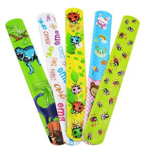 25Pcs pack Slap Bracelets For Kids Snap Bracelets Bulk With Flower Animal Print Craft Halloween Christmas Party Favors Birthday