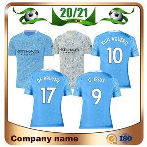 20/21 Player version Mahrez JESUS DE BRUYNE AGUERO maillot de football 2020 STERLING BERNARDO G.JESUS uniforme de football chemise de football Top ville CAMIS