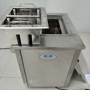 New Type Stainless Steel Double Mold Popsicle Machine Popsicle Machine with Mold and Refrigerant 1800W 220V