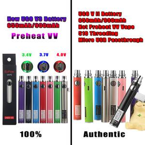 Neue Ankunft UGO V3 VII Vorwärmen justieren Evod variables Volt VV Vape-Stift-Batterie-Installationssatz Ego-Mikro-USB-Durchführungs-Ladegerät 650mAh 900mAh eCigs