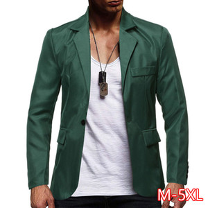 2020 Men's New Men's Large Size Suit Seven-color Solid Color Single Row One Button Casual Suit Top