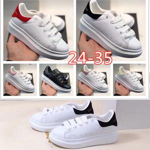 Big crianças casual sapatos para crianças Crianças Meninos Meninas Formadores de luxo do desenhador de moda sapatos Sneakers Outdoor criança Baby Boy Tamanho 24-35