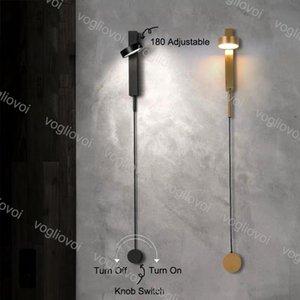 Lampada da parete Europa settentrionale Europa moderna Estremamente semplice creatività individuale Luce di lusso per soggiorno Camera da letto Stairway Decorazione del comodino EUB