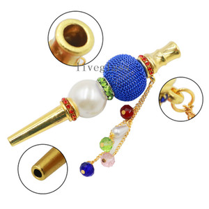 Colorful Diamond Arabian Hookah Accessories Mouth Tips Cigarette Holder Suction Hookah Nozzle Shisha Smoking Narguile Filter Tips