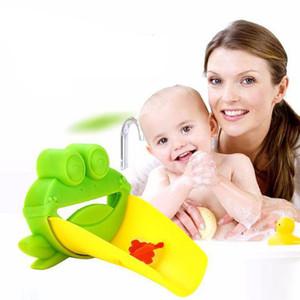 새로운 귀여운 개구리 화장실 싱크 수도꼭지 슈트 익스텐더 어린 아이 손을 씻는 편리한 수도꼭지 익스텐더 아기 세탁 도우미