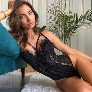 Porno İç Teddy Erotik BlackUnderwear Dantel Babydoll İçin Kadın Seks Lencería Sexi Kostümler Egzotik Giyim Pijama
