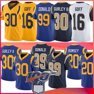 30 Todd Gurley 16 Jared Goff II 20 Jalen Ramsey Los ÁngelesRam Jersey 99 Aaron Donald fútbol jerseys
