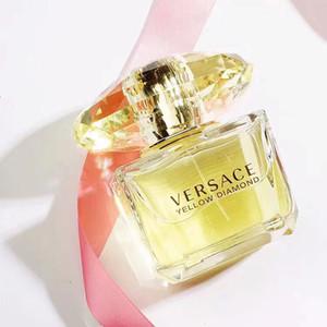 عالية الجودة إمرأة عطر 90ML الأصفر الماس طويل العطور دائم العطر للمرأة رائحة مزيل العرق زجاج زجاجة رذاذ البخور