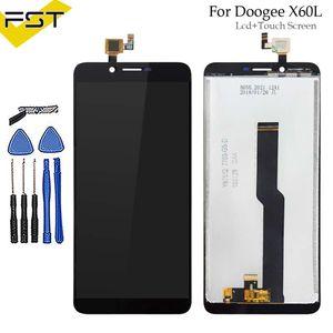 Para doogee x60l display lcd + touch screen assembléia repair parte 5.5 polegada acessórios do telefone para doogee x60l celular parte