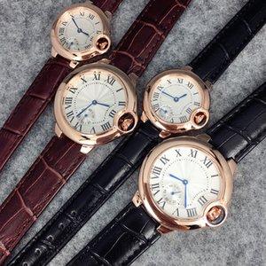 Gli orologi di cuoio dell'orologio di modo superiore di alta qualità per l'uomo / le donne orologio da polso nero / marrone dropshipping il partito Orologi di lusso vendita calda nuovo modello