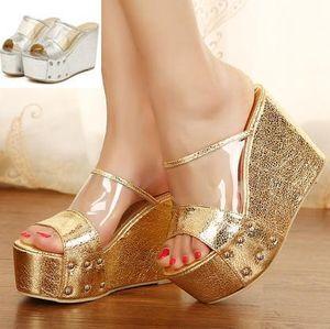 Venda a quente - Novo sexy, Brilhante, de prata, peep toe high heel slipper Mulheres Sandálias de Verão ePacket free shipping