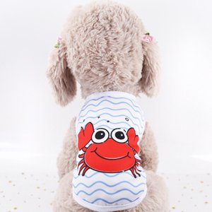 Pet cat dog clothing summer small dog cat clothes watermelon crab print cute vest top spring summer clothing W726