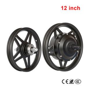 12 '' 14 '' 16 '' roda dianteira E movimentação traseiro Kit Roda alta velocidade Motor 48V250W Brushless engrenagem Hub Motor de lítio bicicleta elétrica