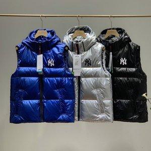 Womens Vest Down Parkas Fashion Solid Color Letter Print Vests Men Womens Couple Down Winter Outerwear
