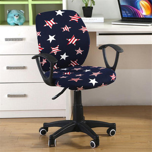 2pcs / set Universal Elastic Spandex Frack Split Chair Back Cover+Seat Cover Anti-dirty Office Computer Chair Cover Stret Case