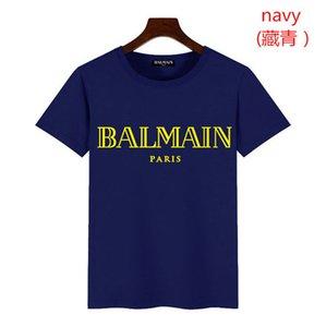 t-shirts Tops chaud de vente de T-shirt à capuche 2020 fermeture à glissière hommes l'étéles hommes de la mode T-balmain chemise manches courtes col rond T-shirt décontracté