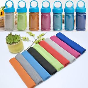 Ice Cold Handtuch Schweißabsorption Jogging Yoga Double Layer Handtücher Quick Dry weiche atmungsaktive Kühl Handtuch Eimer Kleinsatz XD21648