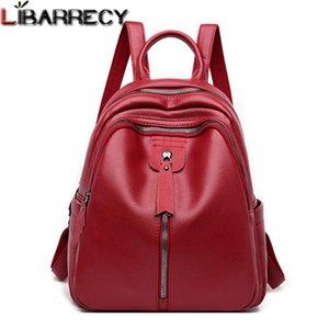 Classic Women Leather Backpack Designer Shoulder Bags For Women 2020 Back Pack School Bags For Teenage Girls Mochila Feminina