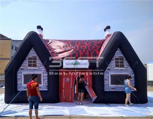 5 M Haute En Plein Air Gonflable Village Pub maison 8 m Jardin Camping Tente air soufflé irlandais Bar Pour potable partie événements Décoration