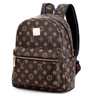 Bayanlar moda baskı sırt çantaları tasarımcı Avrupa ve Amerikan retro sırt çantaları Seyahat banliyö eğlence çanta ücretsiz kargo