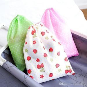 Nuovo creativo prova della polvere coulisse Borse Tirando la corda Scarpe ispessimento stampa Bundle tasca in tessuto non tessuto di immagazzinaggio Travel Bag 0 8RL