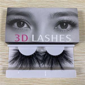25MM يعد 3D المنك الرموش قسط لينة الطبيعية سميكة الصليب اليدوية 5D المنك جلدة مع ورقة مربع