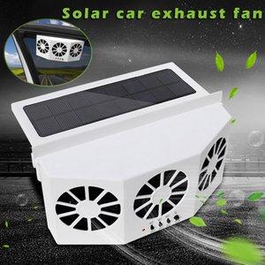 2019 Solar Powered Car Exhaust Air Vent Fan 3 Fan cooler Pára-brisas Sistema de Ventilação CSL88
