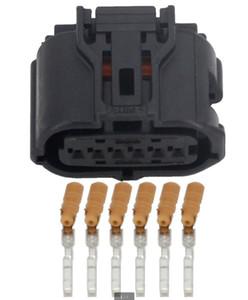 무료 배송 20set 6 핀 여성 가속 페달, 레이더 센서 커넥터, 도요타 크라운 캠리 렉서스 REIZ를위한 자동 전기 플러그