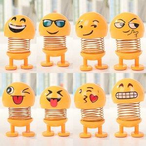 Scuotendo Danza testa Giocattoli auto ornamenti bambole Cute Cartoon divertente Emoji Wobble Robot Head bella cruscotto Decoration auto giocattolo VT0726