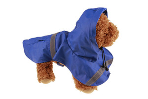10PCS LOT Fashion New PU Pet Dog Raincoat For Small Medium Large Dog Rain Jacket Raincoats Vest Dog CLoth