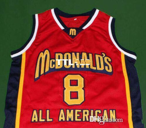 custom XXS-6XL Vintage Men McDonalds K B White red College jersey Size S-4XL or custom any name or number jersey
